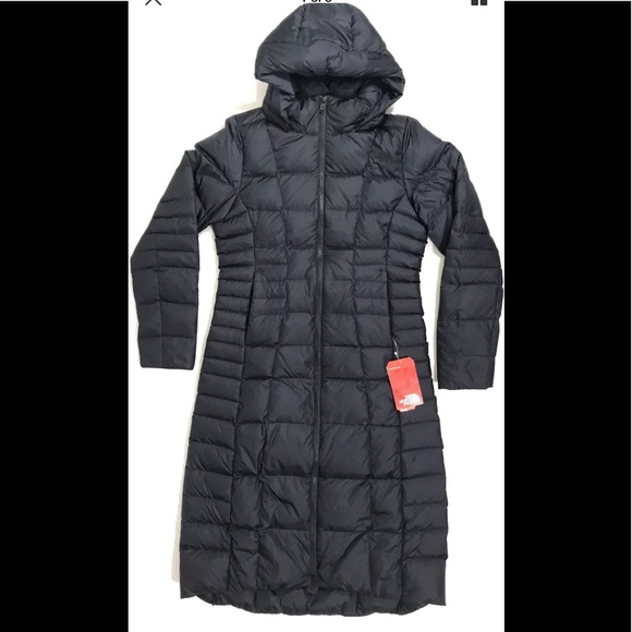 8cf417e33a The North Face NEW Navy Blue Down Long Winter Coat